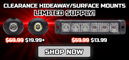 LED Emergency Vehicle Warning Lights Sale, Police Lights Sale, LED Light Bars Sale, Fathers Day Sale