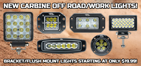 Off Road LED Light Bars - LED Work Lights - Flush Mount LED Work Lights - LED Light Bars