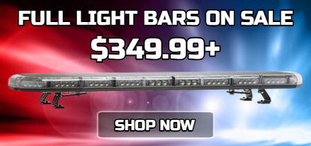 LED Full Size Light Bars, LED Police Light Bars, Emergency Vehicle Light Bars on Sale