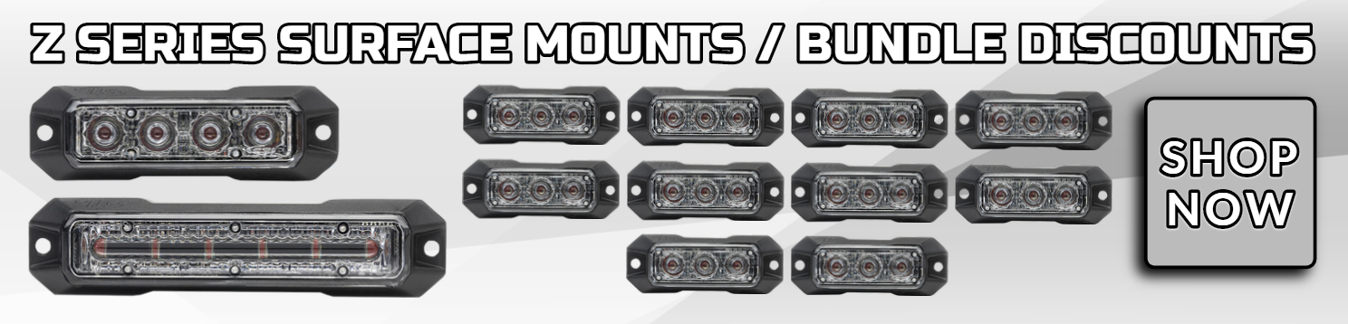 Z Series LED Surface Mount Grille Warning Lights LED Light Heads