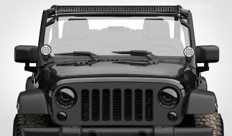 Floodlight Circle Carbine Round 4 Inch LED Off Road Light Jeep