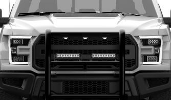 4 pack Dual Carbine 12 Inch Off Road LED Floodlight Work Light Bar Grille