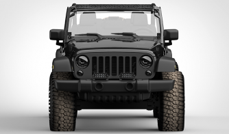 Dual Carbine 8 Inch LED Light Bar Off Road Floodlight jeep