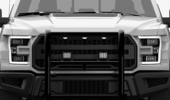 4 pack Dual Carbine 5 Inch LED Light Bar Off Road Floodlight Grille