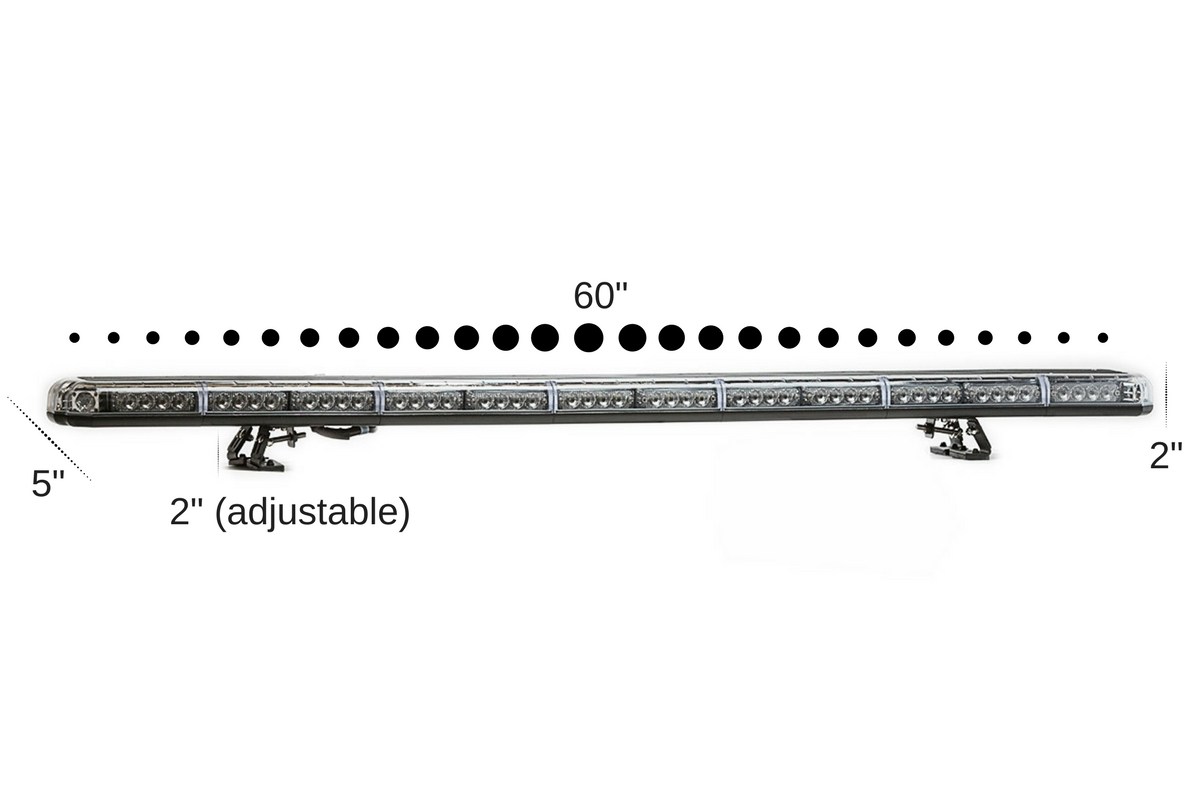 K-Force Micro 60 TIR Slim Full Size Tow LED Light Bar Angle View