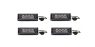 4 Pack Striker-1 TIR 1-Head LED Dash Light