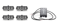 4 Pack LED Surface Mounts with Flasher