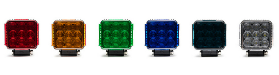 4 Pack Quad Carbine Floodlight Off Road Square LED Work Light Bar All Lense