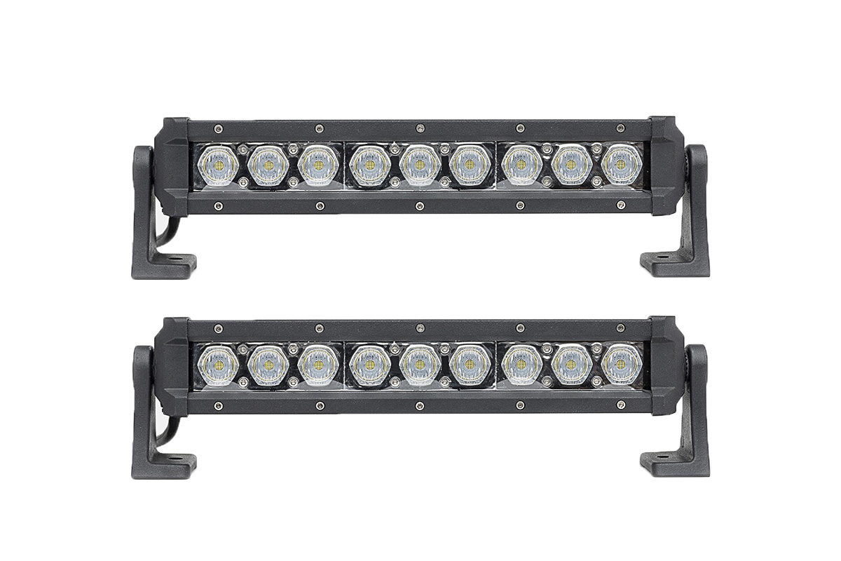 2 pack carbine 12 off road led light bar w c12fp2 stl 2 pack carbine 12 inch floodlight off road led light bar aloadofball Choice Image