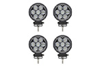 2 Pack Circle Carbine Floodlight Round 4 Inch Off Road LED Light