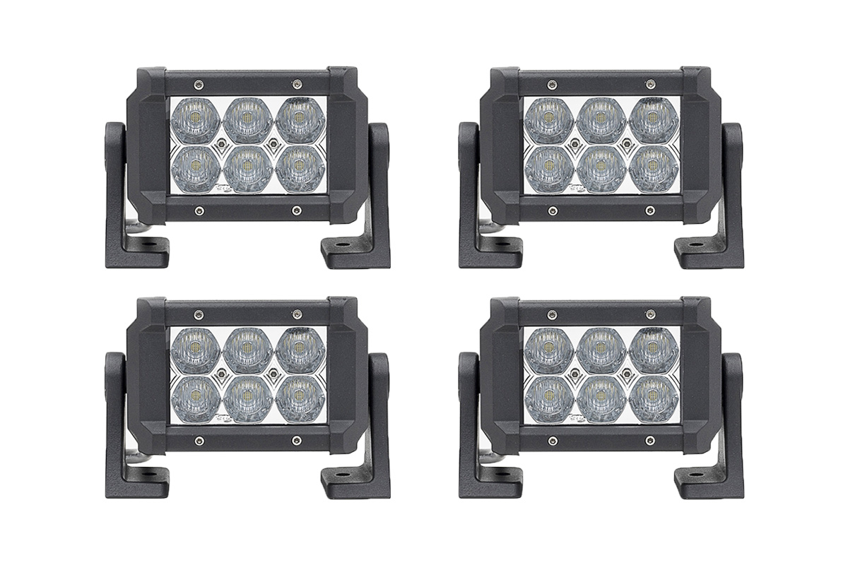 4 Pack Dual Carbine Floodlight 5 Inch Off Road LED Light Bar ...