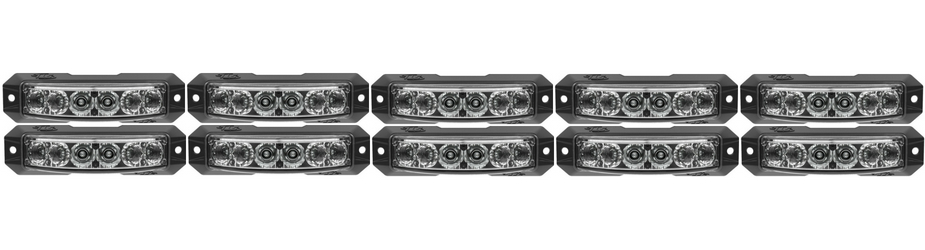 Z-180 TIR LED Surface Mount Grille Lights 10 Pack