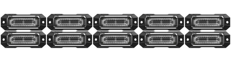 Z-3 Linear LED Surface Mount Grille Lights 10 Pack