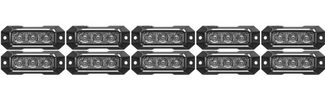 Z-3 TIR LED Surface Mount Grille Lights 10 Pack