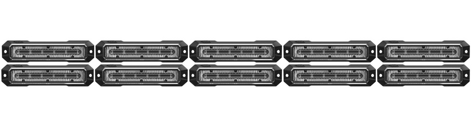 Z-6 Linear LED Surface Mount Grille Lights 10 Pack