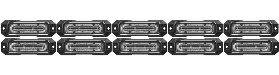 Z-4 Linear LED Surface Mount Grille Lights 10 Pack