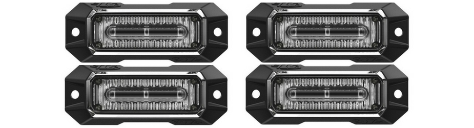 Z-3 Linear LED Surface Mount Grille Lights 4 Pack