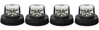 4 Pack Flare 6 LED Hideaway Surface Mount Light