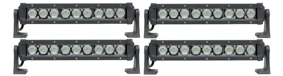4 Pack Carbine 5 Inch Floodlight Off Road LED Light Bar