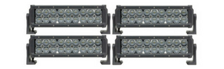 4 Pack Dual Carbine Floodlight 11 Inch Off Road LED Light Bar