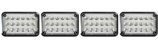 Alpha 6x4 LED Surface Mount Lights 4 Pack