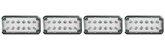 Alpha 7x3 LED Surface Mount Lights 4 Pack