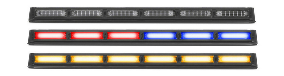 Virtue-6 Linear MultiColor 6 Head LED Traffic Advisor Light Bar