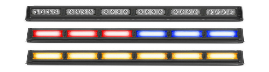 Striker-6 TIR MultiColor LED Traffic Advisor Light Bar 6 Head