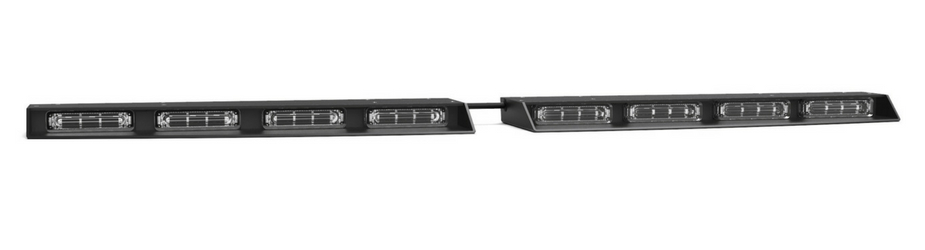 Raptor Linear Rear Windshield Split LED Traffic Advisor Angle