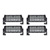 4 Pack Dual Carbine Floodlight 8 Inch Off Road LED Light Bar