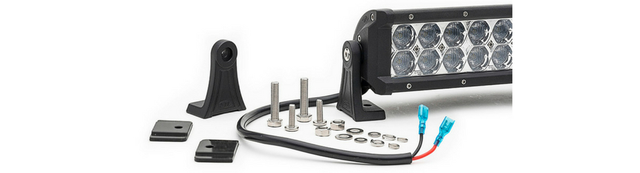Dual Carbine Floodlight 11 Inch Off Road LED Light Bar Mounting Hardware