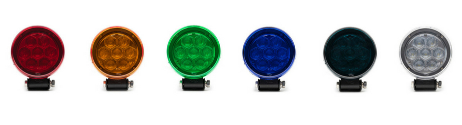 2 Pack Circle Carbine Floodlight Round 4 Inch Off Road LED Light All Lens C