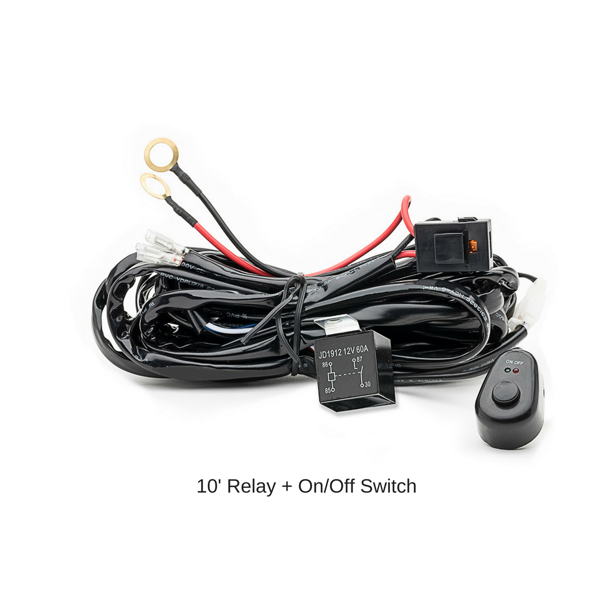 2 Pack Carbine 18 Off Road Led Light Bar W C18pf2 Stl On Switch Wiring Harness Relay One Line Control Lights Inch Floodlight 12v