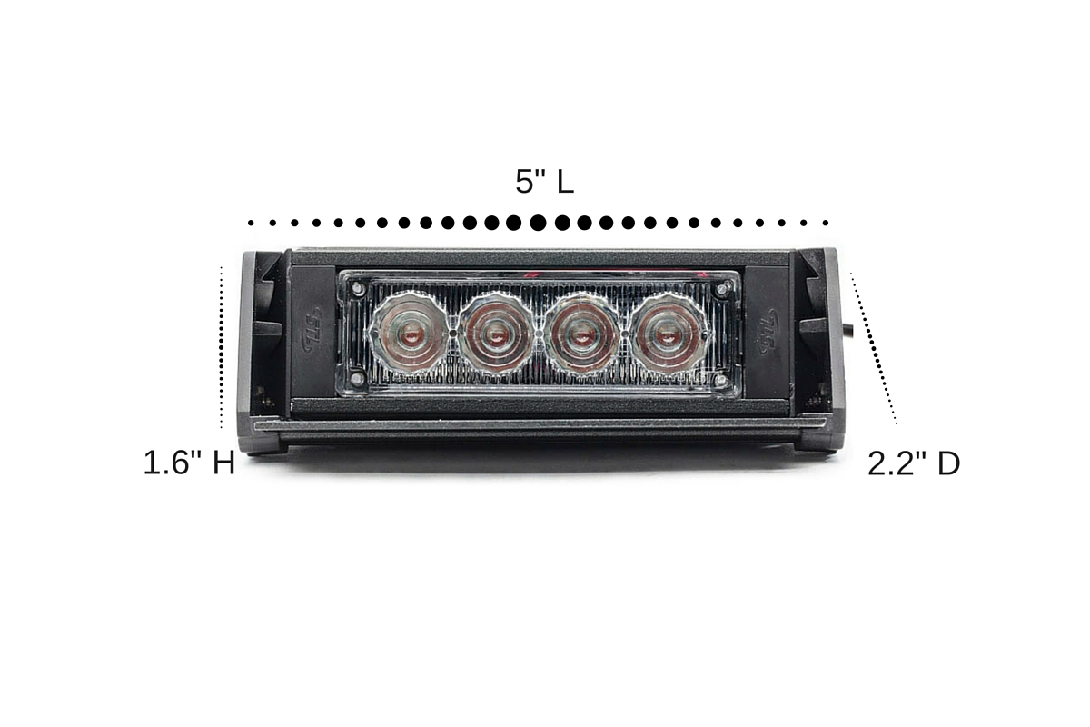 Striker-1 TIR LED Dash Light Dimensions