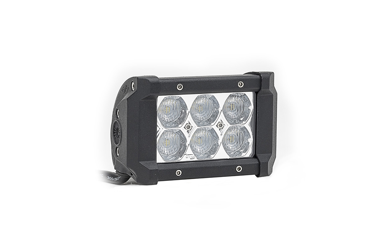 Dual Carbine Floodlight 5 Inch Off Road LED Light Bar Angle View