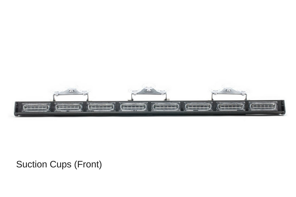 Virtue-8 Linear 8 Head LED Traffic Advisor Light Bar Suction Cups