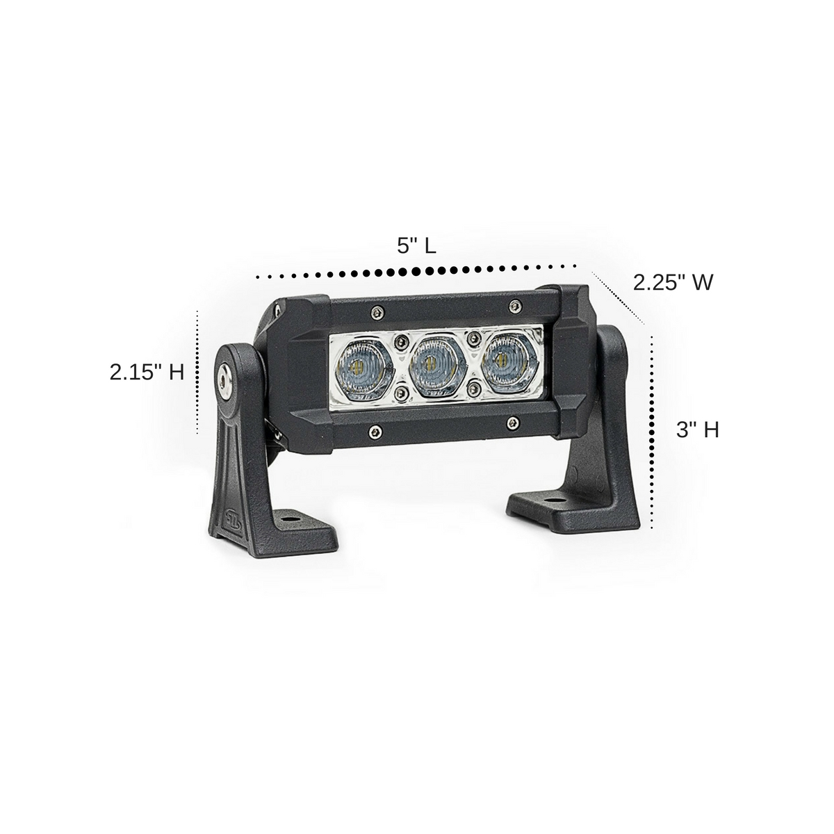 Carbine 5 Inch Floodlight Off Road LED Light Bar Dimensions