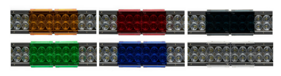 4 Pack Dual Carbine Floodlight 8 Inch Off Road LED Light Bar All Lenses