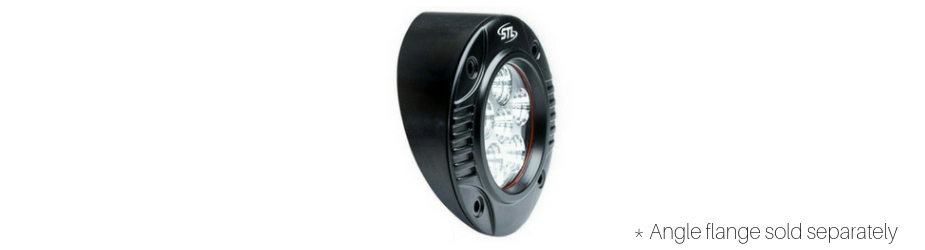 Circle Carbine Flush Mount Round 5 Inch LED Spotlight Back View