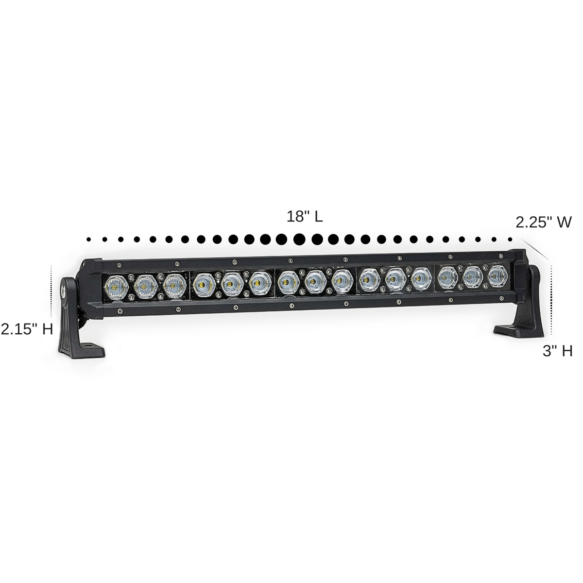 carbine 18 u0026quot  hybrid off road led light bar