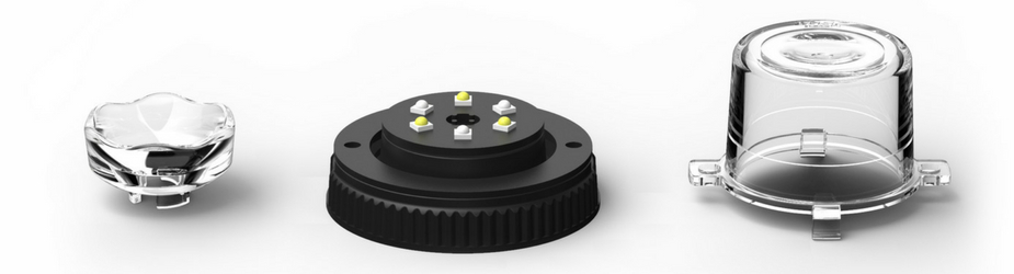 10 Pack Flare 6 LED Hideaway Surface Mount LED Module Side