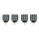 4 Pack Quad Carbine Floodlight Off Road Square LED Work Light Bar