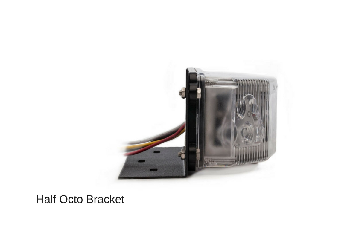 Half Octo LED Surface Mount Bracket Side View
