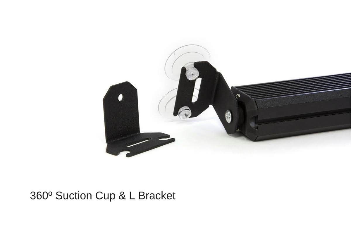 Striker-1 TIR 1-Head LED Dash Light 360 degree suction cup L bracket