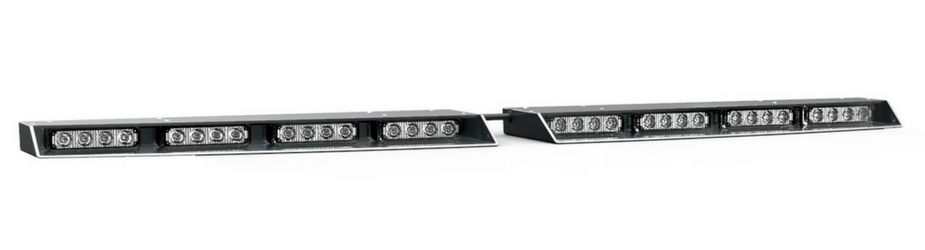 Split Raptor-X TIR Interior LED Visor Light Bar Angle View