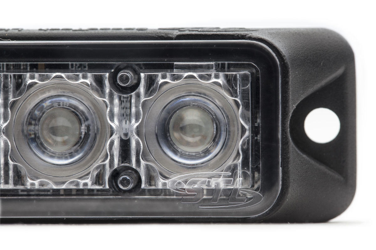 Dual Z-3X TIR LED Surface Mount Grille Lights Optic Close Up