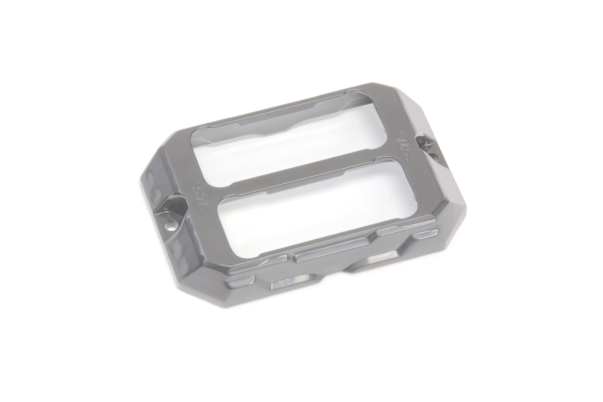 Dual Z-3X TIR LED Surface Mount Grille Lights Silver Bracket