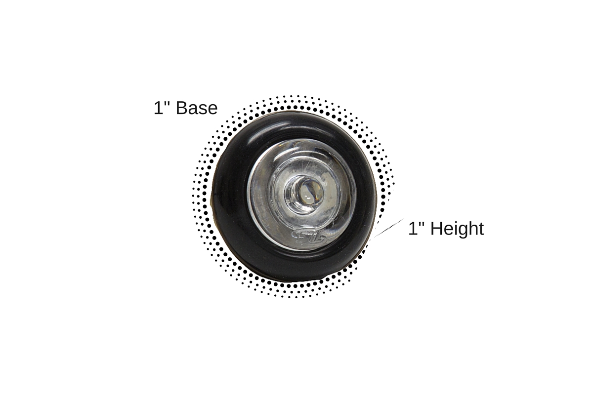 Flare-X LED Steady Burn Hideaway Surface Mount Light Dimensions