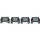 4 Pack Dual Carbine Floodlight 5 Inch Off Road LED Light Bar