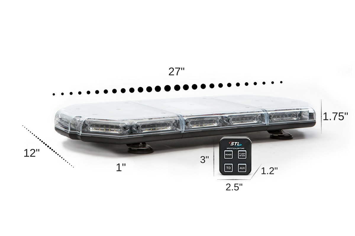 Prime 27 Linear Mini LED Light Bar Dimensions